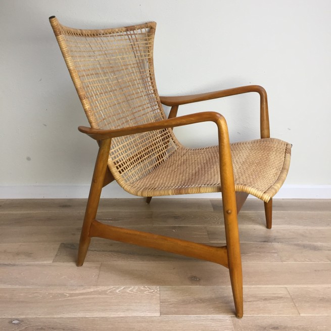 Incredibly RARE 1950's Danish Modern easy chair - magnificent design - very good vintage condition -  SOLD