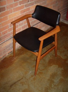 Handsome 1960's teak arm chair manufactured by Glostrup - Denmark & some say designed by Erik Kirkegaard - incredibly well made and super comfortable - 2 available - (SOLD)