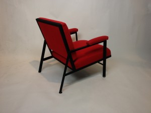 Spectacular 1950's Canadian designed Easy chair by Robin Bush for the Primasteel Line - 1956 - recently upholstered & recently re-sprayed metal frame - (SOLD)