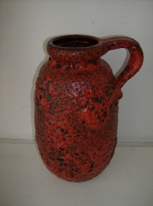 "Extraordinary 1960's West German pottery jug - incredible volcanic glaze - WOW - this beauty stands 10.5""H with approx 7"" girth - (SOLD)"