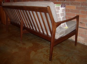 "The hall bench you can never find - made from a 1960's Greta Jalk coffee table base - pretty sweet - measures L 48"" X D 22.5"" X H 29.25"" $450"
