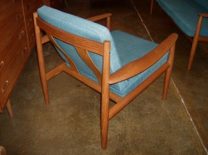 Quality pair of Swedish teak dining chairs designed by Carl Ewert Ekstrom for Alblin Johansson & Soner $400