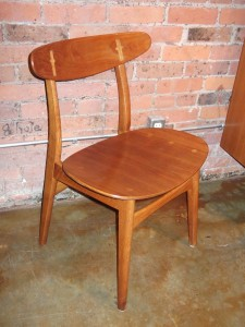Gorgeous 1950's Danish all wood dining chair designed by Hans J. Wegner for Carl Hansen - newly refinished - incredible condition - a Danish modern Classic - SOLD