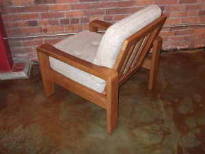 Handsome 1970's Danish modern solid teak easy chair - excellent original vintage condition & oh so comfortable - see matching chair & ottoman & loveseat - (SOLD)