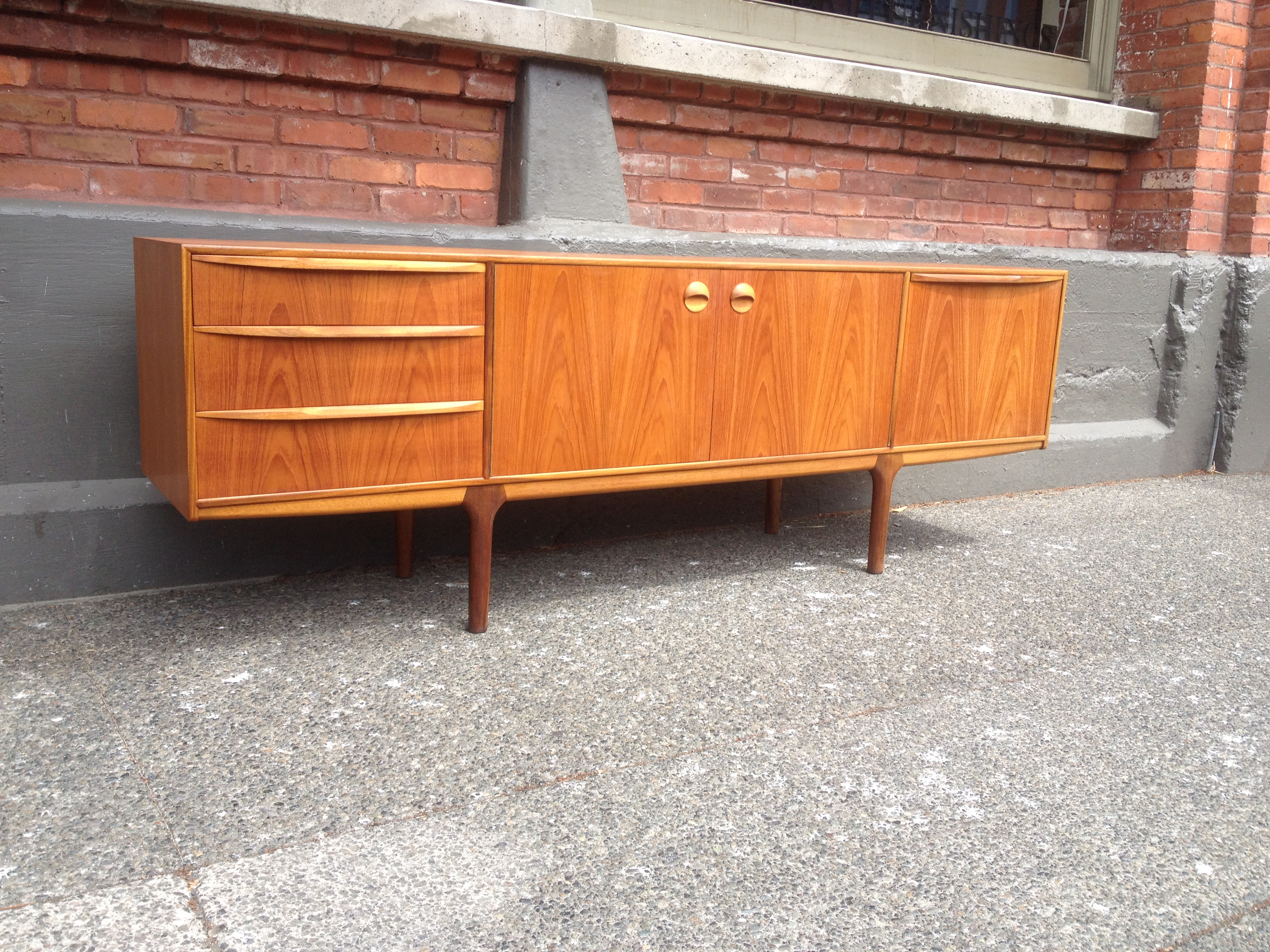 Exceptional Mid century Modern 2 tone teak sideboard with many amazing  features   lets start. The Fabulous Find   Mid Century Modern Furniture Showroom in