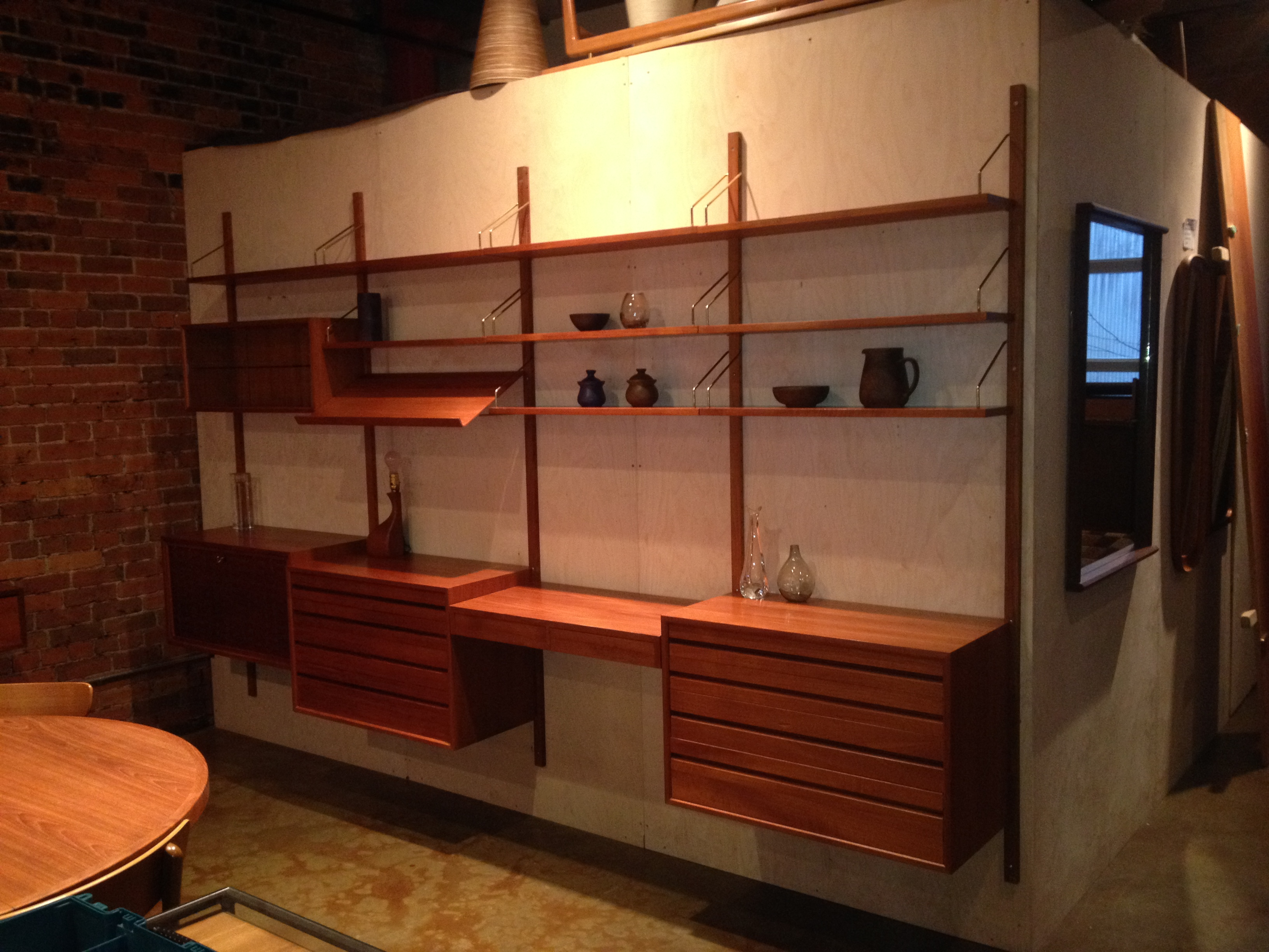 Spectacular 1960u0027s Teak Wall System Designed And Produced By Poul Cadovius   Manufactured In Denmark