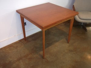 Outstanding simple design by one of Denmark's best - Borge Mogensen for FDB Mobler - early 1950's featuring a solid oak trestle base w/ a beautifully refinished top - would also make a fantastic writing desk - a must see in person - pic does not do it justice - 62.5'L x 32'D x 29'H - (SOLD)