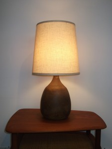 "Gorgeous Vintage Studio Ceramic lamp by Artists - Jan & Helga Grove - Victoria, BC - this beauty stands - 29""H - (SOLD)"