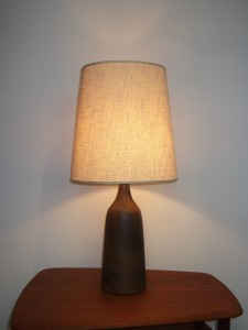 "Gorgeous Vintage Studio Ceramic lamp by Jan & Helga Grove - Victoria BC - this beauty stands 30""H - (SOLD)"