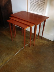 Set of 3 nesting table,teak circa 1965 beautiful patina (SOLD)