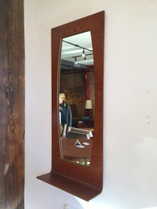 Impressive 1960's Bentwood teak mirror with a shelf all in one - incredibly unique - perfect for an entry way :) or anywhere you need a fabulous mirror - (SOLD)