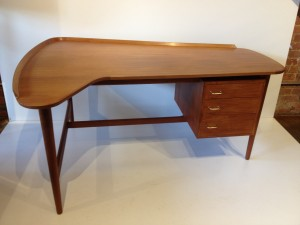 "Gorgeous 1960's 2 tier teak coffee table - designed by Grete Jalk for Glostrup - Made in Denmark - this beauty has been newly re-finished and looks amazing - this beauty is the harder to find smaller & higher version of this classic Danish coffee table - 51""L - (SOLD)"