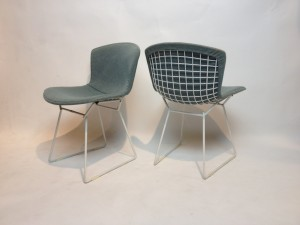 Lovely Original Vintage Bertoia wire chairs for Knoll International - original powder blue covers in excellent vintage condition - (SOLD)