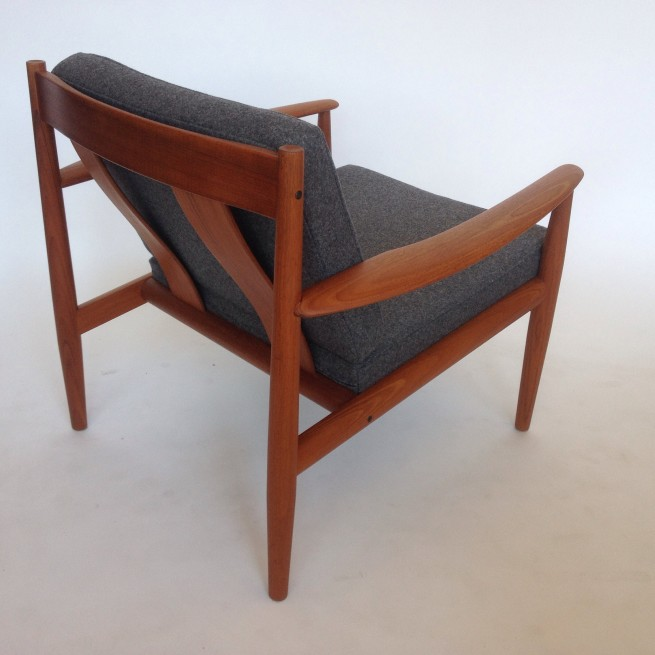 Gorgeous 1960's teak easy chair designed by Grete Jalk for France & Son - Made in Denmark - newly upholstered in a fabulous medium grey wool by Kvadrat - Denmark - new foam too:) - the frame is in very good vintage condition - (SOLD)