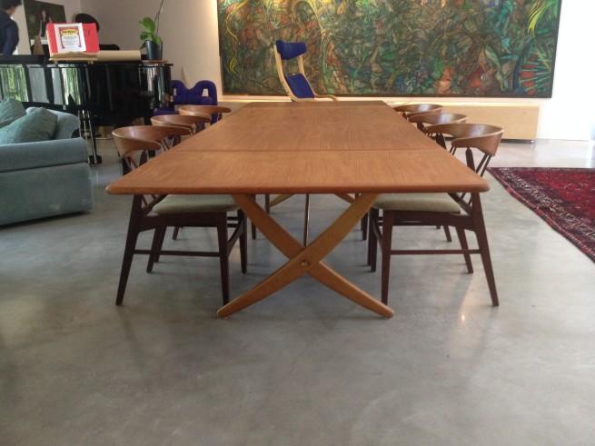 Rare Hans Wegner dining table by Johannes Hansen,Denmark (SOLD)