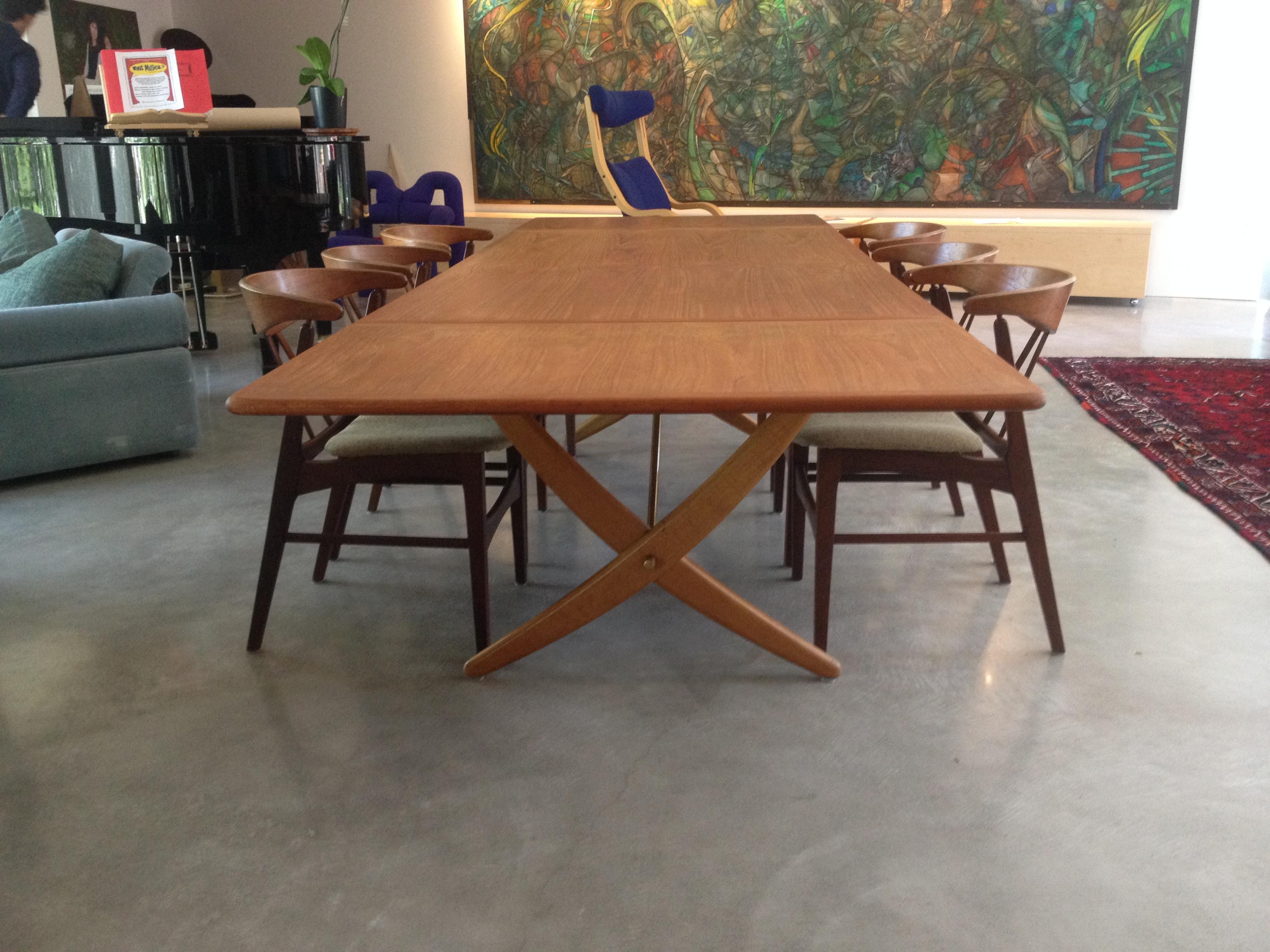 Rare Hans Wegner dining table by Johannes Hansen Denmark  SOLD. The Fabulous Find   Mid Century Modern Furniture Showroom in