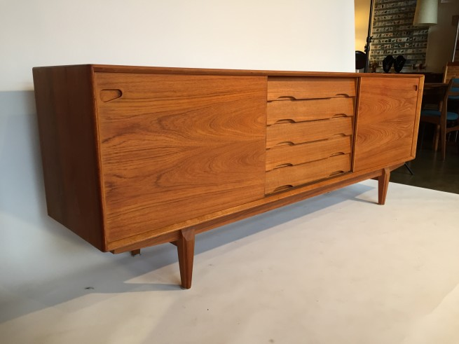 1960's teak sideboard by Danish company Dyrlund - incredible Danish craftsmanship throughout - an outstanding design - very good vintage condition - measures - - call the store for measurements ;) -(SOLD)