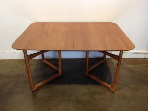 "Outstanding 1950's Danish Modern SOLID teak dining table - designed by Peter Hvidt for France & Daverkosen - Made in Denmark - incredible craftsmanship & patina - ""WOW "" - check out the dramatic v leg structure & brass ball accents - an amazing RARE FIND - comes with 2 leaves - this beauty measures - 55""L x 39.5""D x 28.5""H- add 12.25 per leaf - fully extended with both leaves - 79.5""L - (SOLD)"