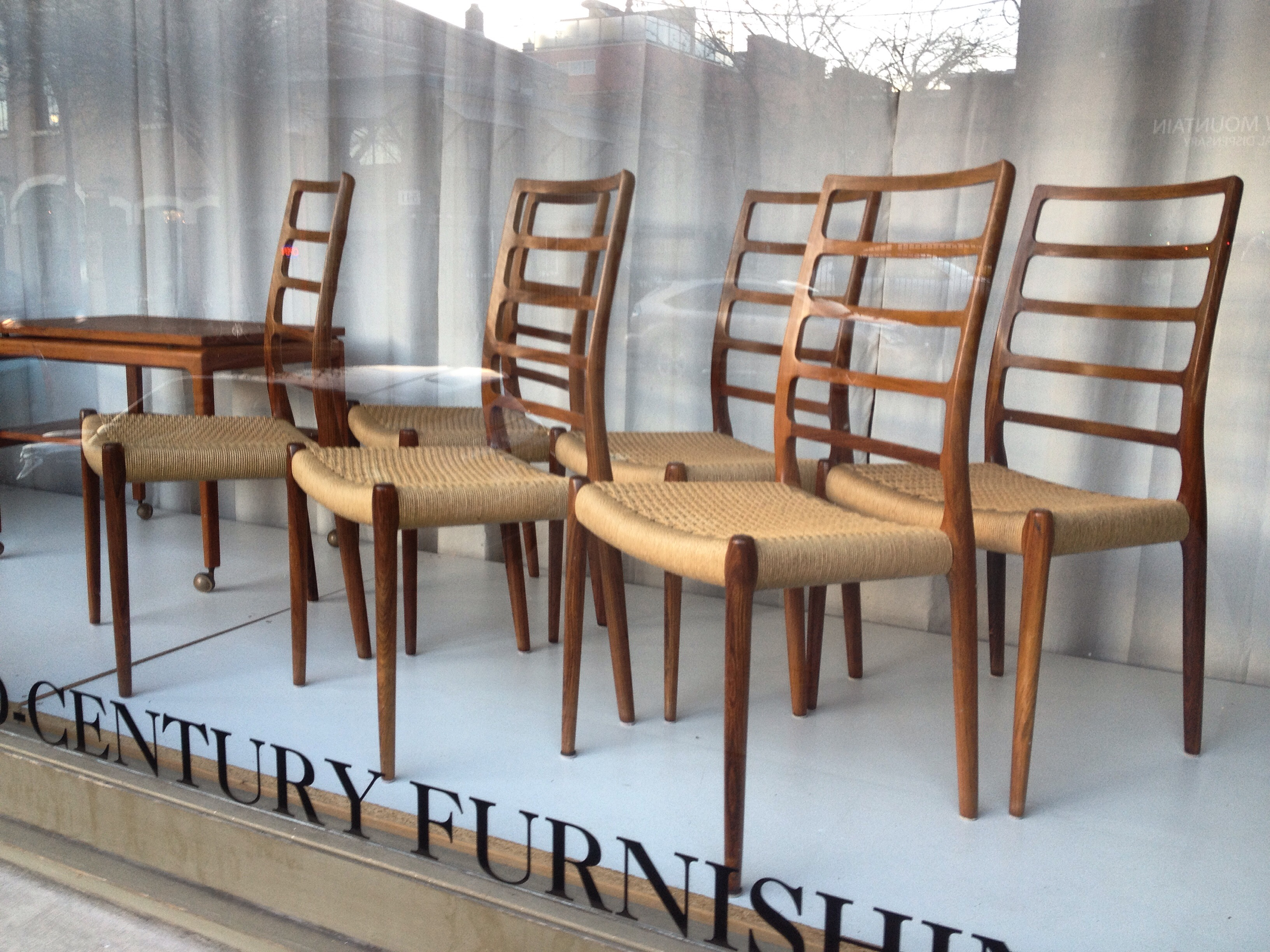 Amazing Set Of Rosewood Dining Chairs By JL Moller