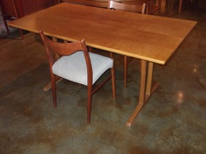 Handsome Early Mid-century modern oak shaker table designed by Borge Mogensen for Frederica - Denmark newly re-finished - would make a fabulous 4 seater dining table or a gorgeous writing desk - SOLD
