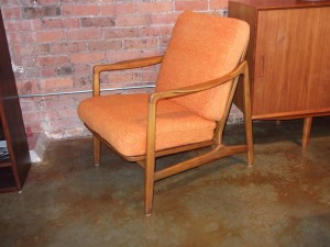 Spectacular Early Mid-century Beech lounge chair designed by husband & wife team - Tove & Edvard Kindt -Larsen- manufactured by France & Daverkosen - all original (with the spring box cushion, that is oh so comfortable ) -**note some fading on the back of the cushions - chairs available - SOLD