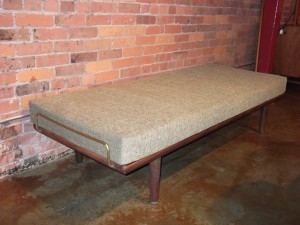 Rare teak daybed designed by Hans J Wegner - for Getama Denmark - newly upholstered - (SOLD)