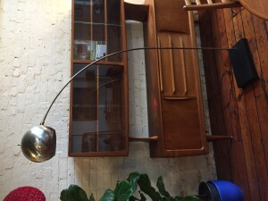 chrome arc lamp - (SOLD)