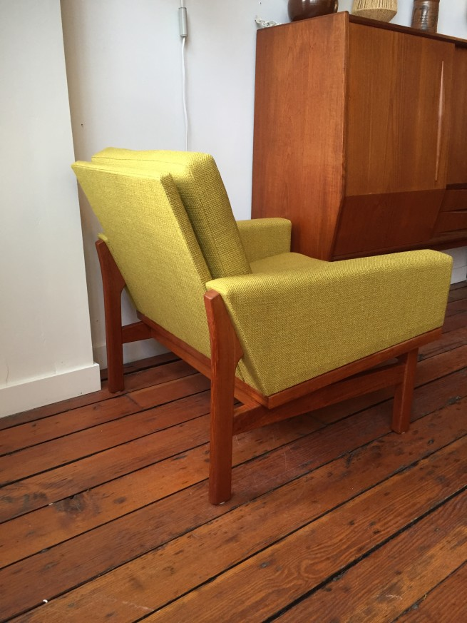 1960's Danish lounge chair designed by Eric Jorgensen reupholstered $1,800