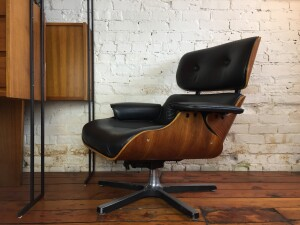 Fantastic 1960's Eames style lounge chair in fantastic condition , it swivels , reclines, is comfy what else is there :) - (SOLD)