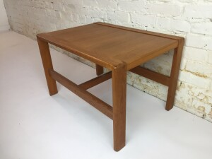 """Fantastic Vintage teak end/side table - newly refinished - check out that finger jointed corners :) - this beauty measures - 28""""L x 20""""D x18""""H - (SOLD)"""