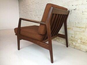 Handsome Mid-century Modern easy chair - the seat deck has been newly re-webbed with high quality pirelli straps, ready for many more years of kicking back and relaxing :) - (SOLD)