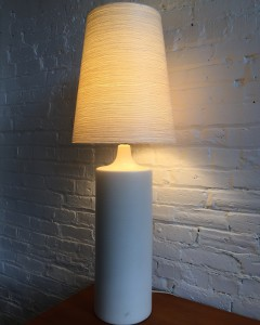 Exceptional Mid-century Modern ceramic lamp by husband and wife duo Lotte and Gunnar Bostlund - such an incredible glaze- ( 1 small chip on the neck) (SOLD)
