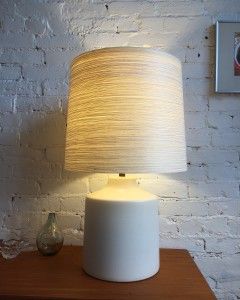 Exceptional Mid-century Modern ceramic lamp by husband and wife duo Lotte and Gunnar Bostlund - (SOLD)