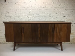 Incredible MCM Solid African teak sideboard designed by Jan Kuypers for Imperial - Made in Canada - newly refinished - (SOLD)