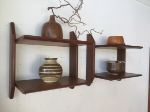 Set of early 1960's wall shelves. Would work great in many spots in your home (SOLD)