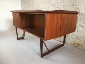Handsome danish desk designed by Peter Lovig, stamped 1965.This desk looks great from every angle! (SOLD)