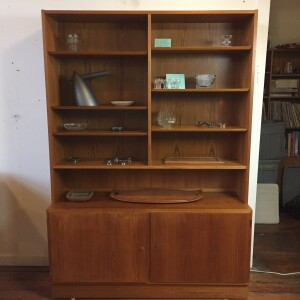1960's 2 piece teak bookcase/cabinet by Hundevad & Co. Spectacular Danish Craftsmanship - incredible quality - NO pressboard - all secondary woods - :) a piece you pass down - $1500