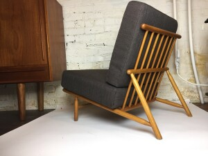 1950's Lounge chair Designed by Alf Svensson for DUX - Made in Sweden - newly upholstered in a gorgeous quality fabric - $1200