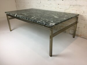 Gorgeous stone coffee table by J.P. Monrad - Made in Denmark - excellent vintage condition -(SOLD)