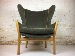 Oustanding Mid-century Modern wingback chair designed by Adrian Heath for France and Son - Denmark - newer upholstery in a earthy green on the gorgeous solid beech wood frame - very comfortable - a RARE find - (SOLD)