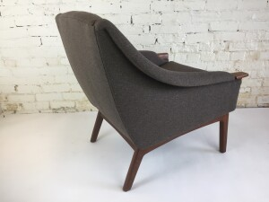 1960's lounge chair by Punch Designs, - Montreal Canada - newly upholstered in a gorgeous fabric (SOLD)