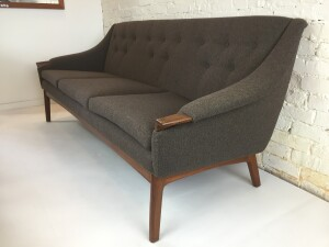 1960's 3 seater sofa by Punch Designs, - Montreal Canada - newly upholstered in a gorgeous fabric (SOLD)