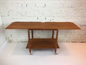 Fantastic MId-century Modern 3 tier teak bar cart/serving cart by \Poul Hundevad - Denmark (SOLD)