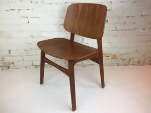 A Spectacular1950's Danish Modern teak chair designed by Borge Mogensen for Soborg - Made in Denmark - $400