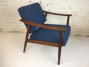 Stunning Mid-century Modern teak easy chair Designed by Arnt Lande- newly re-upholstered with quality Maharam fabric - natural latex foam - the solid teak frame has been refinished - a real beauty and comfortable too - Made in Norway - (SOLD)