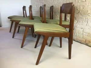Incredible Mid-century Modern solid teak dining chairs designed by Jan Kupyers for Imperial - Canada -(SOLD)