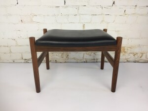 """Gorgeous Mid-century Modern rosewood foot stool by Spottrup - Denmark - excellent condition - measures - 21""""L x 15.5""""D x 14.5""""H -$400"""