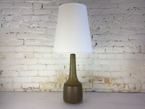Stunning Mid-century Modern Early Lotte Bostlund ceramic lamp - the glaze is absolutely gorgeous - comes with a new custom shade to the same specs as the original -(SOLD)