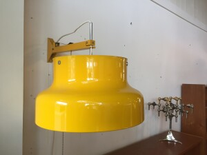 Spectacular 1960's Swedish Atelje Lyktan Bumling wall light designed by Anders Pehrson - unique design - good vintage condition - (SOLD)