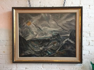 """Exceptional large painting titled """"Meh Noir"""" by 1950's NYC Artist - Charles Meloh (1908-1982) - (SOLD)"""